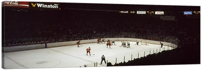 Group of people playing ice hockey, Chicago, Illinois, USA Canvas Art Print
