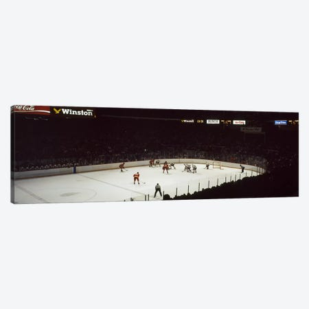 Group of people playing ice hockey, Chicago, Illinois, USA Canvas Print #PIM8226} by Panoramic Images Canvas Artwork
