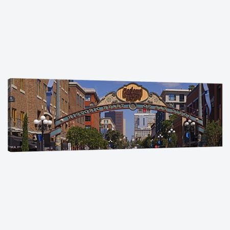 Buildings in a city, Gaslamp Quarter, San Diego, California, USA Canvas Print #PIM8229} by Panoramic Images Canvas Print