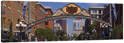 Buildings in a city, Gaslamp Quarter, San Diego, California, USA Canvas Art Print