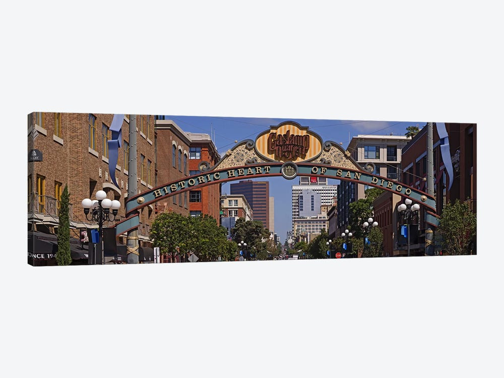 Buildings in a city, Gaslamp Quarter, San Diego, California, USA by Panoramic Images 1-piece Canvas Art Print
