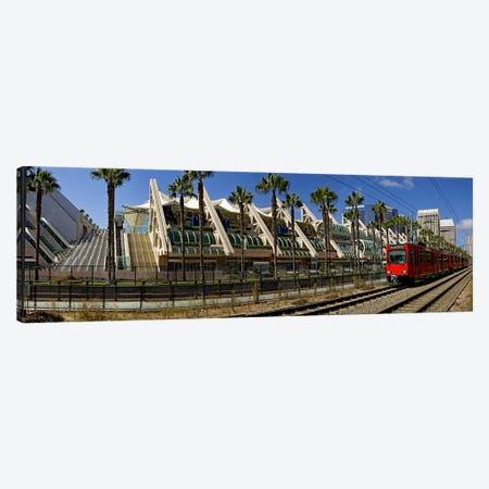 MTS commuter train moving on tracks, San Diego Convention Center, San Diego, California, USA Canvas Print #PIM8230} by Panoramic Images Canvas Wall Art