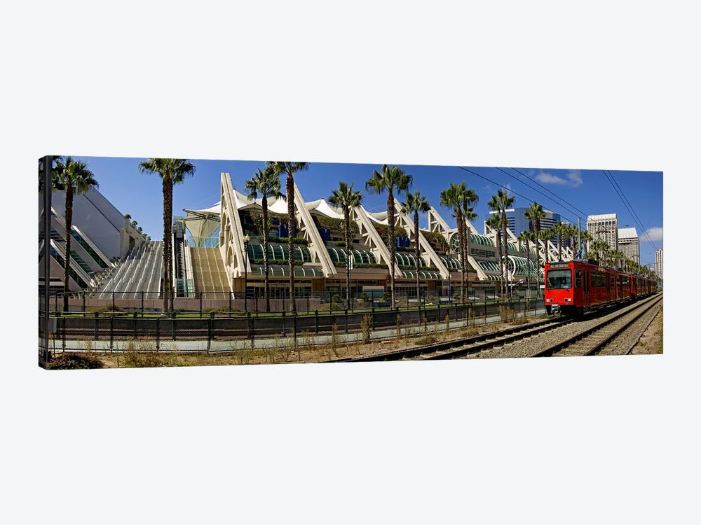 MTS commuter train moving on tracks, San Diego Convention Center, San Diego, California, USA by Panoramic Images 1-piece Art Print