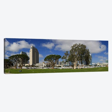 Park in a city, Embarcadero Marina Park, San Diego, California, USA 2010 Canvas Print #PIM8231} by Panoramic Images Canvas Art