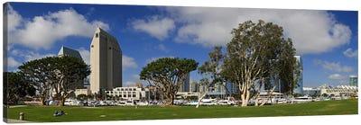 Park in a city, Embarcadero Marina Park, San Diego, California, USA 2010 Canvas Print #PIM8231