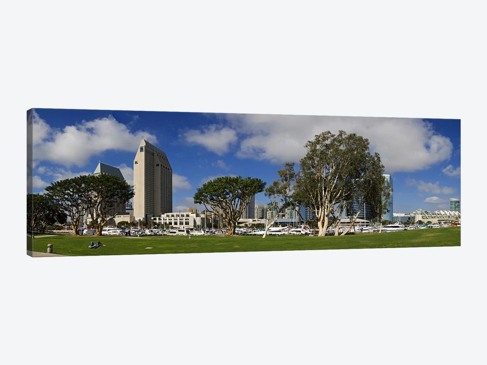 Park in a city, Embarcadero Marina Park, San Diego, California, USA 2010 by Panoramic Images 1-piece Canvas Wall Art