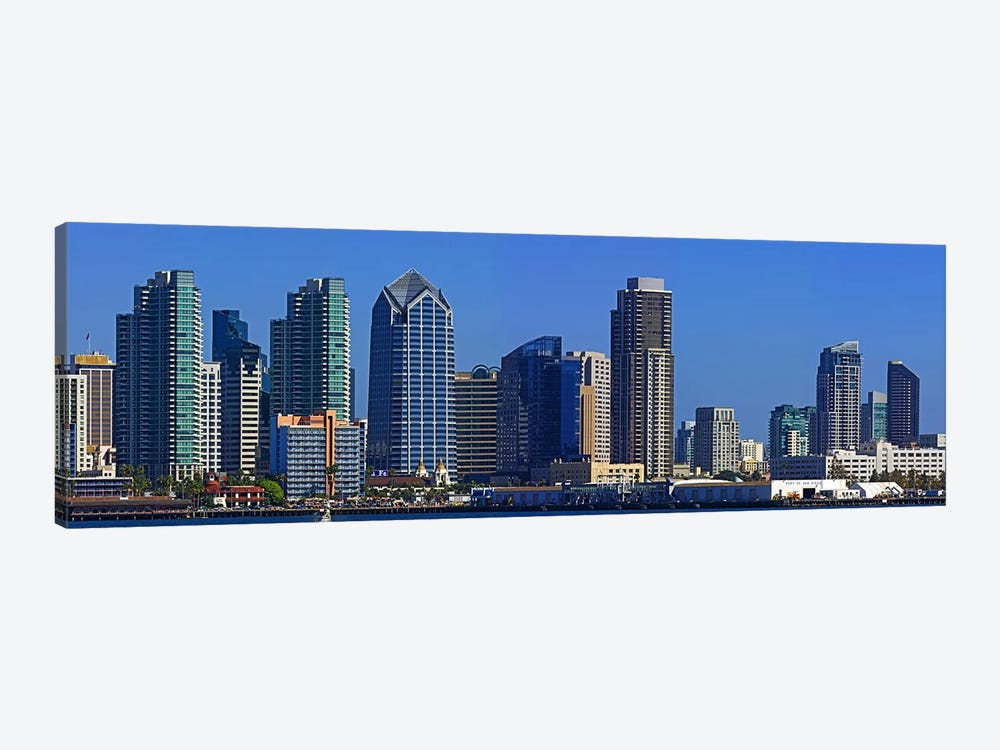 Buildings at the waterfront, San Diego, California, USA 2010 #7 by Panoramic Images 1-piece Canvas Print