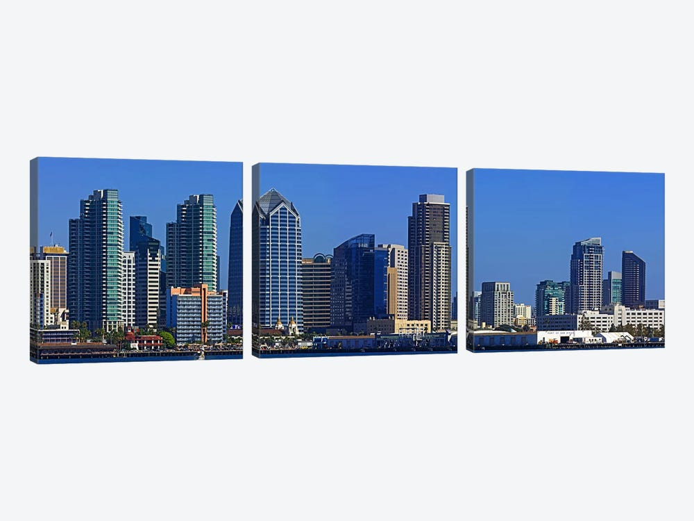 Buildings at the waterfront, San Diego, California, USA 2010 #7 by Panoramic Images 3-piece Canvas Print