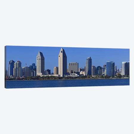 City at the waterfront, San Diego, California, USA 2010 Canvas Print #PIM8233} by Panoramic Images Canvas Wall Art