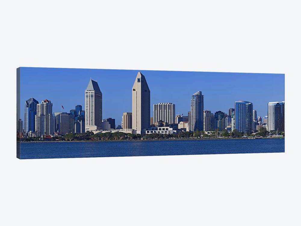 City at the waterfront, San Diego, California, USA 2010 by Panoramic Images 1-piece Canvas Art