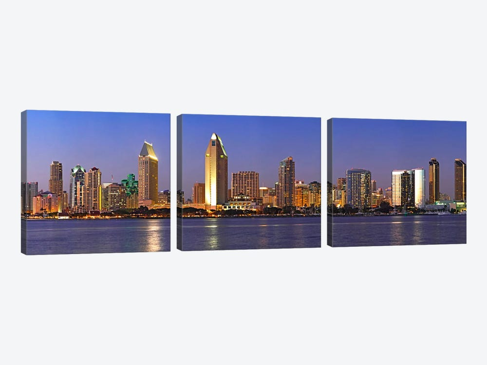 Buildings at the waterfront, San Diego, California, USA 2010 #8 by Panoramic Images 3-piece Canvas Art Print