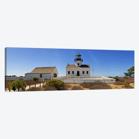 Lighthouse, Old Point Loma Lighthouse, Point Loma, Cabrillo National Monument, San Diego, California, USA Canvas Print #PIM8235} by Panoramic Images Canvas Print