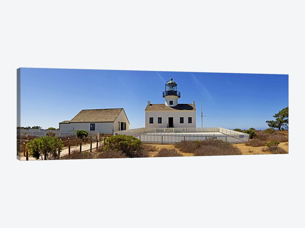 Lighthouse, Old Point Loma Lighthouse, Point Loma, Cabrillo National Monument, San Diego, California, USA by Panoramic Images 1-piece Canvas Art
