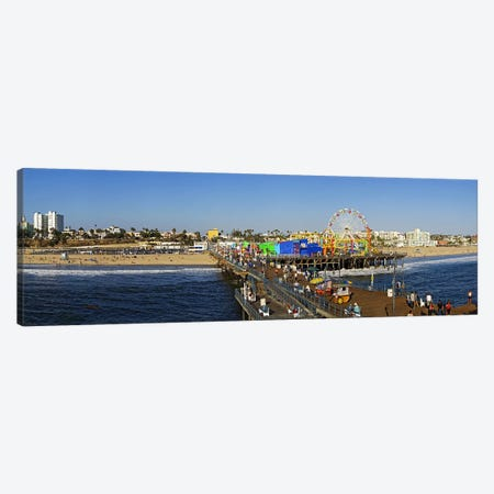 Amusement park, Santa Monica Pier, Santa Monica, Los Angeles County, California, USA Canvas Print #PIM8236} by Panoramic Images Art Print