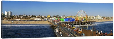 Amusement park, Santa Monica Pier, Santa Monica, Los Angeles County, California, USA Canvas Art Print