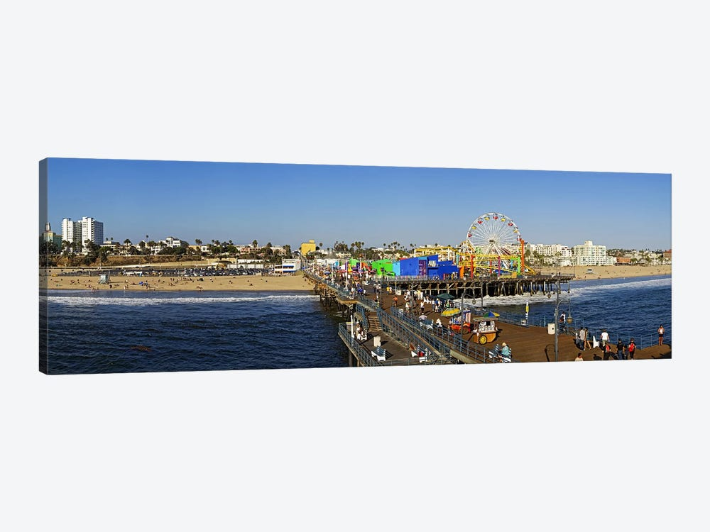 Amusement park, Santa Monica Pier, Santa Monica, Los Angeles County, California, USA by Panoramic Images 1-piece Art Print