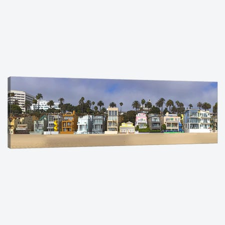 Houses on the beach, Santa Monica, Los Angeles County, California, USA Canvas Print #PIM8237} by Panoramic Images Canvas Print