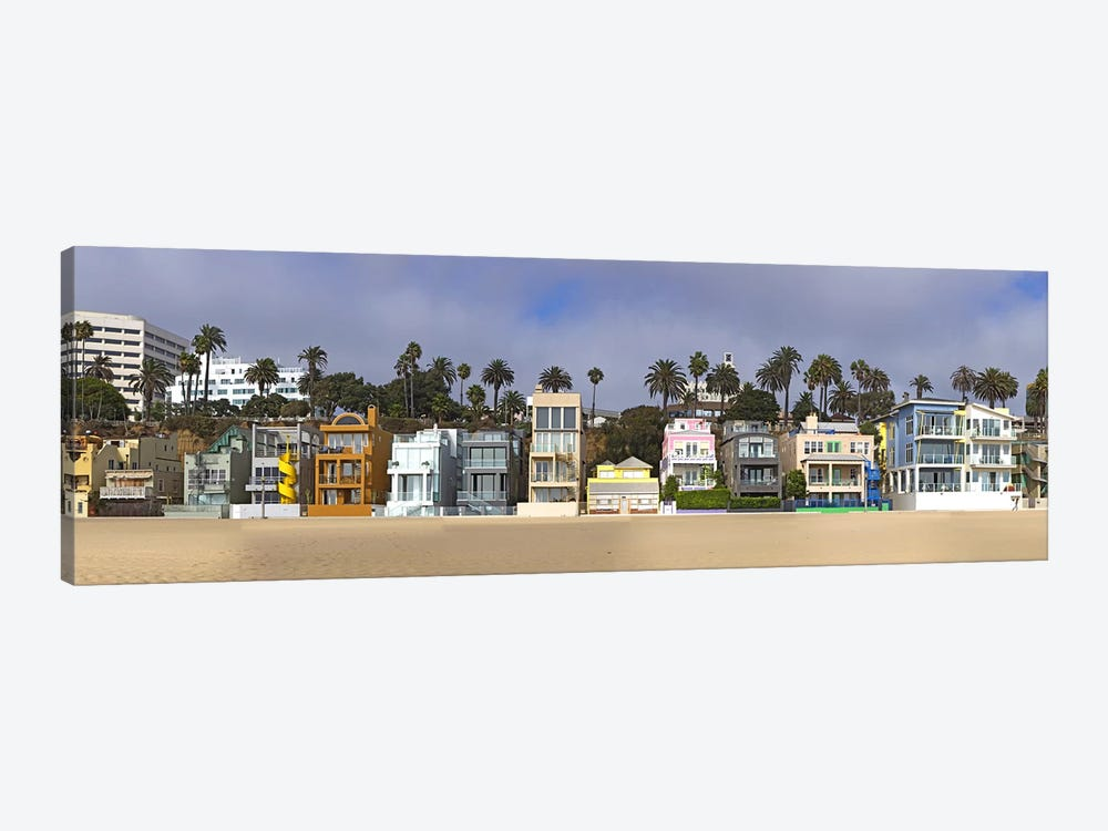 Houses on the beach, Santa Monica, Los Angeles County, California, USA by Panoramic Images 1-piece Canvas Artwork