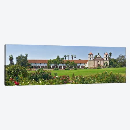 Garden in front of a mission, Mission Santa Barbara, Santa Barbara, Santa Barbara County, California, USA Canvas Print #PIM8238} by Panoramic Images Canvas Art