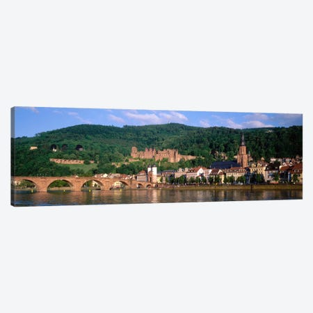 Heidelberg Castle With Altstadt (Old Town) In The Foreground, Baden-Wurttemberg, Germany 3-Piece Canvas #PIM823} by Panoramic Images Canvas Art
