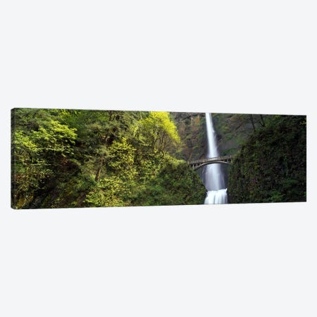 Waterfall in a forest, Multnomah Falls, Columbia River Gorge, Portland, Multnomah County, Oregon, USA Canvas Print #PIM8242} by Panoramic Images Canvas Art Print
