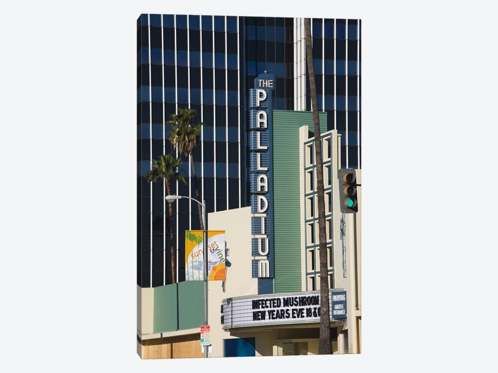Theater in a city, Hollywood Palladium, Hollywood, Los Angeles, California, USA by Panoramic Images 1-piece Canvas Wall Art