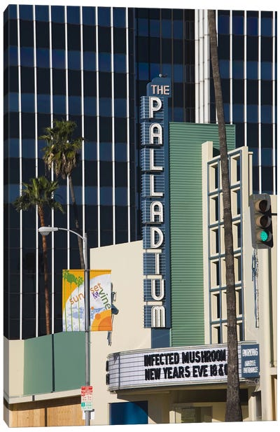 Theater in a city, Hollywood Palladium, Hollywood, Los Angeles, California, USA Canvas Art Print