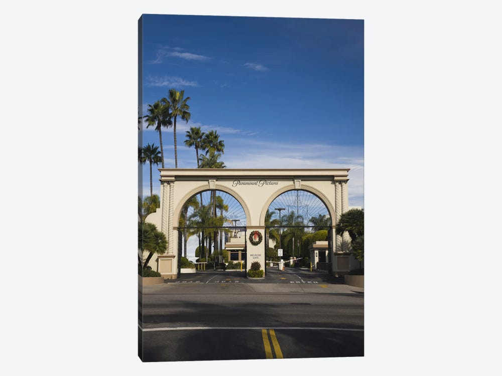 Entrance gate to a studio, Paramount Studios, Melrose Avenue, Hollywood, Los Angeles, California, USA by Panoramic Images 1-piece Canvas Art Print