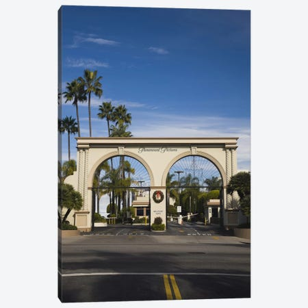 Entrance gate to a studio, Paramount Studios, Melrose Avenue, Hollywood, Los Angeles, California, USA Canvas Print #PIM8245} by Panoramic Images Canvas Art
