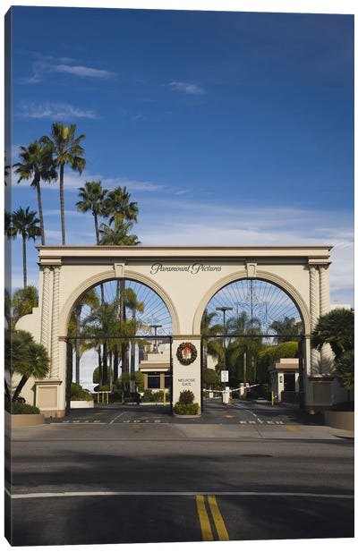 Entrance gate to a studio, Paramount Studios, Melrose Avenue, Hollywood, Los Angeles, California, USA Canvas Art Print