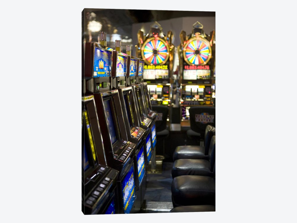 Slot machines at an airport, McCarran International Airport, Las Vegas, Nevada, USA by Panoramic Images 1-piece Canvas Art