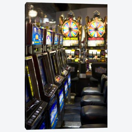 Slot machines at an airport, McCarran International Airport, Las Vegas, Nevada, USA Canvas Print #PIM8248} by Panoramic Images Canvas Art Print