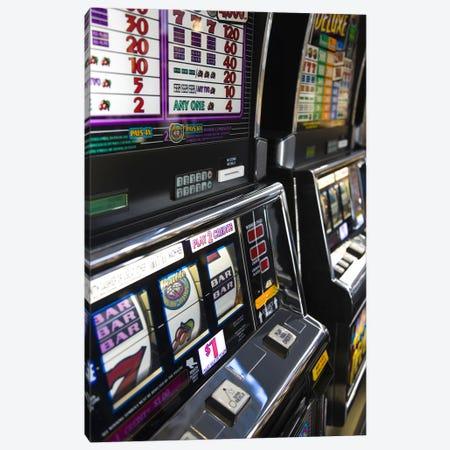 Slot machines at an airport, McCarran International Airport, Las Vegas, Nevada, USA #2 Canvas Print #PIM8249} by Panoramic Images Art Print