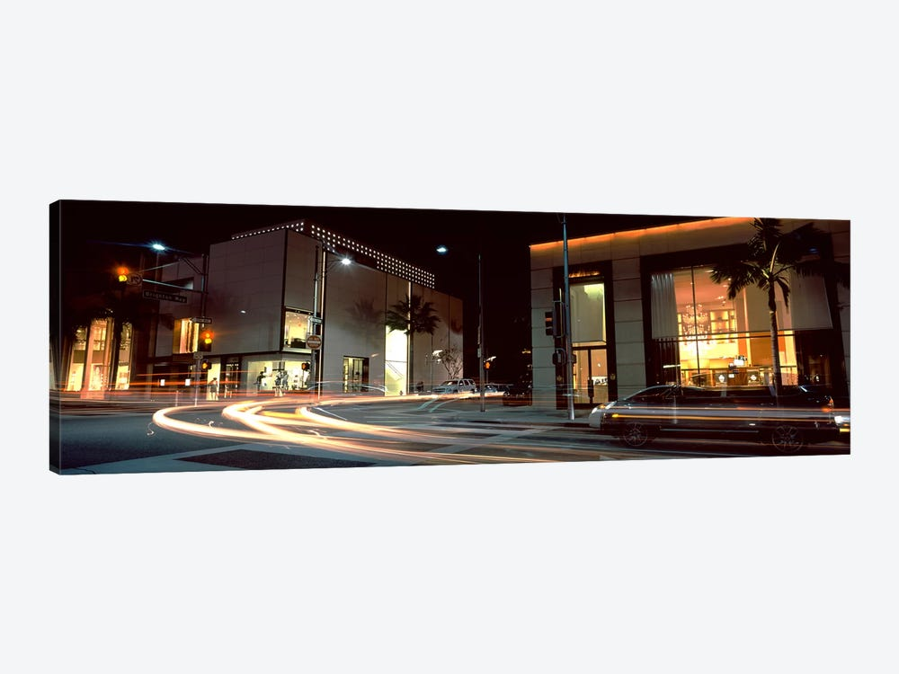 Traffic on the road, Rodeo Drive, Beverly Hills, Los Angeles County, California, USA by Panoramic Images 1-piece Canvas Print