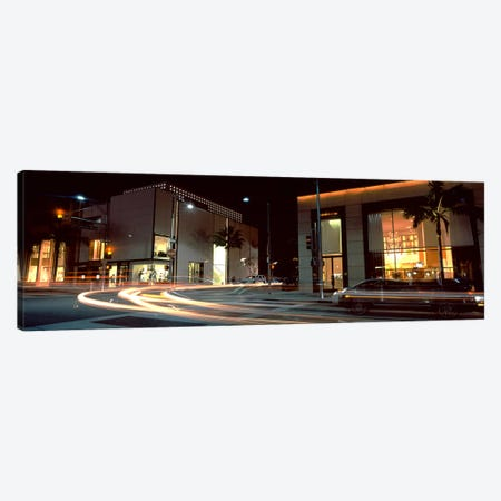 Traffic on the road, Rodeo Drive, Beverly Hills, Los Angeles County, California, USA 3-Piece Canvas #PIM8256} by Panoramic Images Canvas Art Print