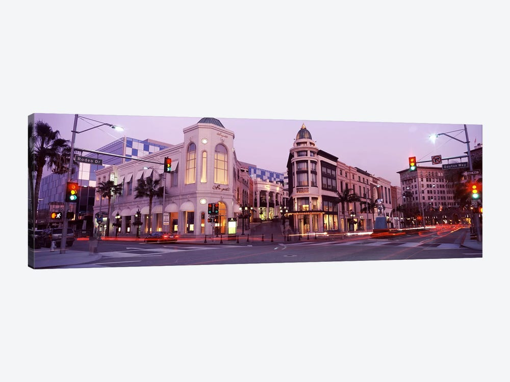Traffic on the road, Rodeo Drive, Beverly Hills, Los Angeles County, California, USA #2 by Panoramic Images 1-piece Art Print