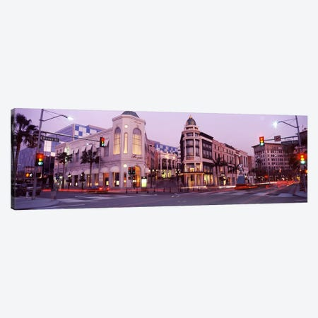 Traffic on the road, Rodeo Drive, Beverly Hills, Los Angeles County, California, USA #2 3-Piece Canvas #PIM8258} by Panoramic Images Canvas Artwork