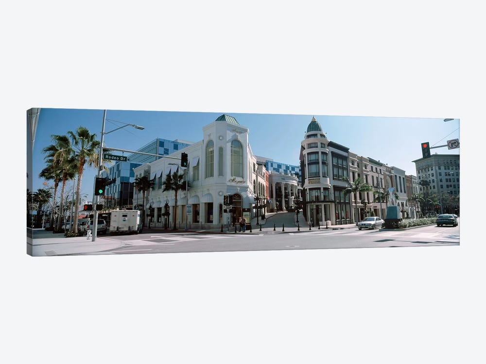 Buildings along the road, Rodeo Drive, Beverly Hills, Los Angeles County, California, USA #2 by Panoramic Images 1-piece Canvas Wall Art