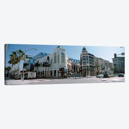 Buildings along the road, Rodeo Drive, Beverly Hills, Los Angeles County, California, USA #2 3-Piece Canvas #PIM8259} by Panoramic Images Canvas Wall Art