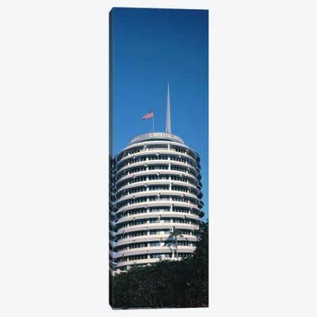 Low angle view of an office building, Capitol Records Building, City of Los Angeles, California, USA Canvas Print #PIM8260} by Panoramic Images Canvas Print