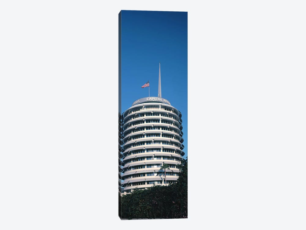 Low angle view of an office building, Capitol Records Building, City of Los Angeles, California, USA by Panoramic Images 1-piece Canvas Artwork