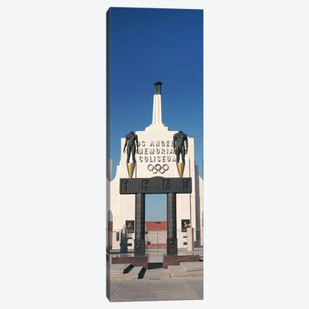 Entrance of a stadium, Los Angeles Memorial Coliseum, Los Angeles, California, USA Canvas Print #PIM8262} by Panoramic Images Art Print