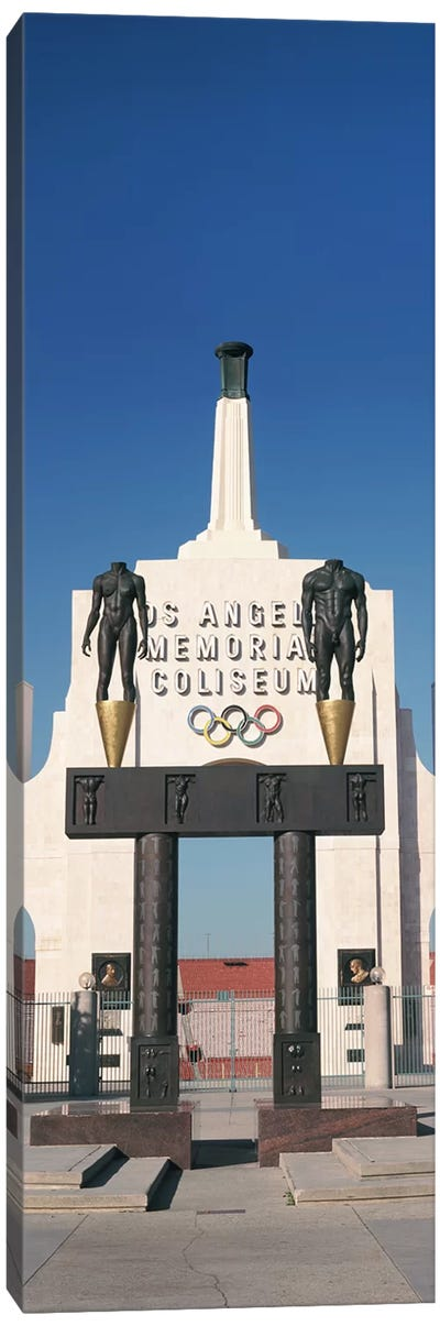Entrance of a stadium, Los Angeles Memorial Coliseum, Los Angeles, California, USA Canvas Art Print