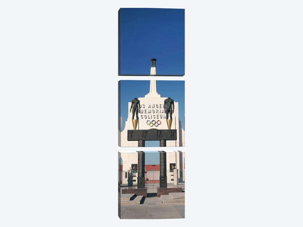 Entrance of a stadium, Los Angeles Memorial Coliseum, Los Angeles, California, USA by Panoramic Images 3-piece Canvas Wall Art