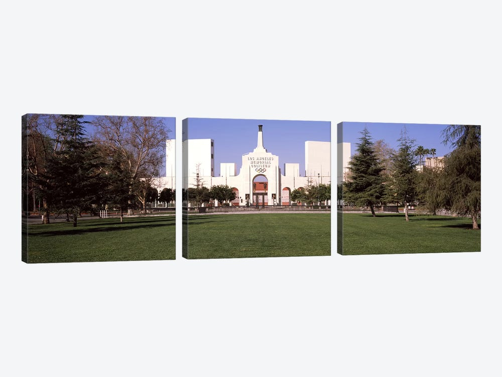 Facade of a stadium, Los Angeles Memorial Coliseum, Los Angeles, California, USA by Panoramic Images 3-piece Art Print
