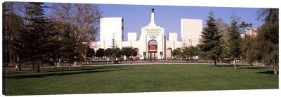 Facade of a stadium, Los Angeles Memorial Coliseum, Los Angeles, California, USA Canvas Art Print