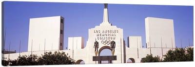 Facade of a stadium, Los Angeles Memorial Coliseum, Los Angeles, California, USA #2 Canvas Print #PIM8264
