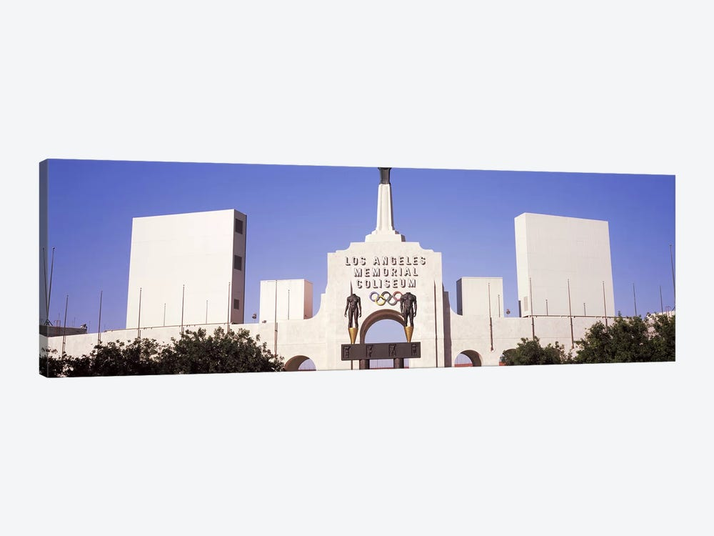 Facade of a stadium, Los Angeles Memorial Coliseum, Los Angeles, California, USA #2 by Panoramic Images 1-piece Canvas Art