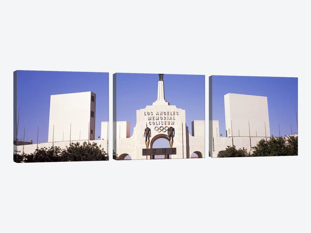Facade of a stadium, Los Angeles Memorial Coliseum, Los Angeles, California, USA #2 by Panoramic Images 3-piece Canvas Artwork