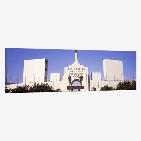 Facade of a stadium, Los Angeles Memorial Coliseum, Los Angeles, California, USA #2 Canvas Print #PIM8264} by Panoramic Images Canvas Artwork